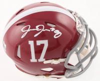 Josh Jacobs Signed Alabama Crimson Tide Speed Mini-Helmet (Beckett COA & Jacobs Hologram) at PristineAuction.com