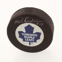 Paul Henderson Signed Toronto Maple Leafs Logo Hockey Puck (Beckett COA) at PristineAuction.com