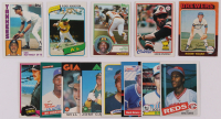 Lot of (13) Baseball Cards with Robin Yount 1975 Topps #223 RC, Rickey Henderson 1980 Topps #482 RC, Don Mattingly 1984 Topps #8 RC, Tony Gwynn 1983 Topps #482 RC, Eddie Murray 1978 Topps #36 RC at PristineAuction.com
