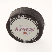 """Marcel Dionne Signed Kings Logo Hockey Puck Inscribed """"HOF 92"""" (Beckett COA) at PristineAuction.com"""
