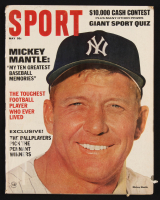 Original 1967 Sport Magazine Featuring Mickey Mantle with Mantle Rawlings Advertisement at PristineAuction.com