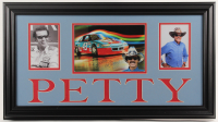 Richard Petty Signed 15x27 Custom Framed Photo Display (JSA COA) at PristineAuction.com