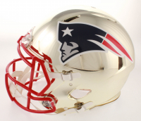 Rob Gronkowski Signed Patriots Full-Size Authentic On-Field Chrome Speed Helmet (Beckett COA) at PristineAuction.com