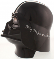 """David Prowse, Brian Muir, & James Earl Jones Signed Star Wars Darth Vader Full-Size Helmet Inscribed """"Darth Vader"""", """"Vader Sculptor"""", & """"May The Force Be With You"""" (ACOA LOA) at PristineAuction.com"""