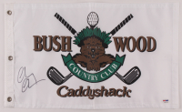 """Chevy Chase Signed """"Caddyshack"""" Bushwood Country Club Pin Flag (PSA COA) at PristineAuction.com"""