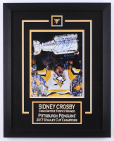Sidney Crosby Signed 2017 Penguins Stanley Cup 16x20 Custom Framed Photo Display (FSM COA) at PristineAuction.com