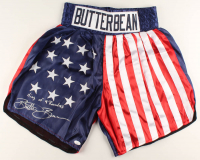 "Eric ""Butterbean"" Esch Signed USA Boxing Trunks Inscribed ""King of 4 Rounders"" (JSA COA) at PristineAuction.com"