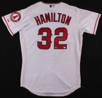 Josh Hamilton Signed Angels Jersey (MLB Hologram) at PristineAuction.com