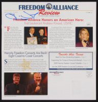 "Oliver North Signed ""Freedom Alliance Review"" Newsletter (JSA COA) at PristineAuction.com"