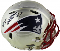 Rob Gronkowski Signed Patriots Full-Size Authentic On-Field Chrome Speed Helmet (Fanatics Hologram) at PristineAuction.com
