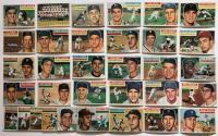 Lot of (33) 1956 Topps Baseball Cards with #177 Hank Bauer, #90 Cincinnati RedLegs Team Card, #77 Harvey Haddix, #300 Vic Wertz, #138 Johnny Antonelli at PristineAuction.com
