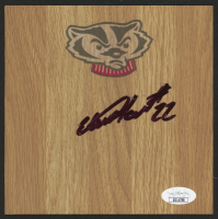 Ethan Happ Signed Wisconsin Badgers 6x6 Vinyl Floor Tile (JSA COA) at PristineAuction.com