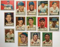 Lot of (14) 1952 Topps Baseball Cards with #227 Joe Garagiola, #21 Ferris Fain, #3 Hank Thompson, #39 Dizzy Trout at PristineAuction.com