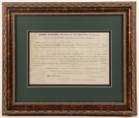 James Madison Signed 18x21.25 Custom Framed Document Display (Beckett LOA) at PristineAuction.com