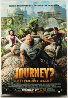"""Journey 2 : The Mysterious Island"" 27x40 Movie Poster Signed by (5) with Dwayne Johnson, Josh Hutcherson, Vanessa Hudgens, Luis Guzman, & Brad Peyton (JSA ALOA & JSA LOA) at PristineAuction.com"