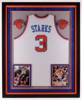 John Starks Signed Knicks 36x44 Custom Framed Jersey Display (JSA COA & Sports Memorabilia Hologram) at PristineAuction.com