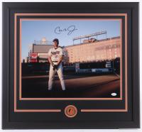 Cal Ripken Jr. Signed Orioles 24.5x26.5 Custom Framed Photo Display with Pin (JSA COA) at PristineAuction.com