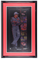"Sam Bass Signed LE ""Dale Earnhardt Special"" 24x37 Custom Framed Lithograph Display (PA LOA) at PristineAuction.com"
