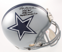 "Roger Staubach Signed Cowboys Full-Size Authentic On-Field Helmet Inscribed ""HOF '85"", ""SB VI MVP"" & ""Captain America"" (JSA COA) at PristineAuction.com"