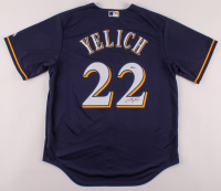 Christian Yelich Signed Brewers Jersey (Beckett Hologram) at PristineAuction.com