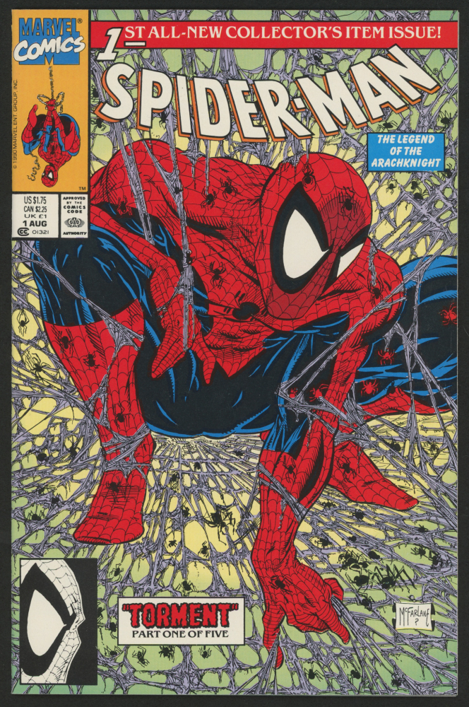 """1990 """"Spider-Man: Torment"""" Vol. 1 Issue #1 Marvel Comic Book at PristineAuction.com"""