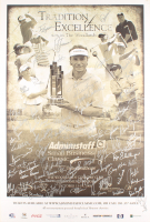 The Woodlands Country Club Tournament 24x36 Poster on Foam Board Signed by (80) with Ben Crenshaw, Scott Simpson, Jim Thorpe, Fuzzy Zoeller (JSA ALOA) at PristineAuction.com