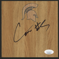Cassius Winston Signed Michigan State Spartans 6x6 Vinyl Floor Tile (JSA COA) at PristineAuction.com