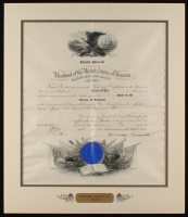 Theodore Roosevelt Signed 19x22 Custom Matted Military Appointment Document Display (JSA ALOA) at PristineAuction.com