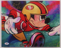 Joe Montana & Jerry Rice Signed 49ers Mickey Mouse 11x14 Print On Canvas (PSA LOA) at PristineAuction.com