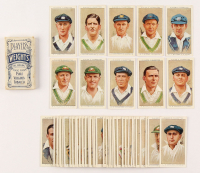 "1934 Player's ""Cricketers"" Complete Set of (50) Cigarette Cards with Don Bradman, Jack Hobbs with vintage 1930's Player's Pack at PristineAuction.com"