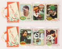 Lot of (2) 1976 Topps Football Unopened Christmas Rack Pack with (12) Cards Per Pack at PristineAuction.com