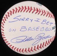 "Pete Rose Signed OML Baseball Inscribed ""Sorry I Bet on Baseball"" (JSA COA & Fiterman Sports Hologram) at PristineAuction.com"