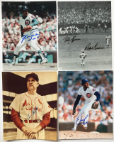 Lot of (22) Baseball Hall of Famers & Stars 8x10 Photos Signed by (23) With Bobby Thomson, Ralph Branch, Enos Slaughter, Lee Smith, Fergie Jenkins (SOP LOA) at PristineAuction.com