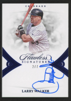 Larry Walker 2019 Panini Flawless Signatures Sapphire #17 at PristineAuction.com