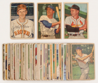 Lot of (45) 1952 Bowman Baseball Cards with #30 Red Schoendienst, #24 Carl Furillo, #85 Marty Marion CO at PristineAuction.com