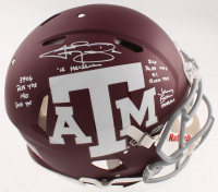 Johnny Manziel Signed Texas A&M Aggies Full-Size Authentic On-Field Speed Helmet with (5) Inscriptions (Beckett COA) at PristineAuction.com