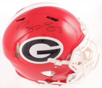 Roquan Smith Signed Georgia Bulldogs Full-Size Authentic On-Field Speed Helmet (Beckett COA) at PristineAuction.com
