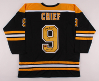 "Johnny Bucyk Signed Jersey Inscribed ""H.O.F. 1981"" (Your Sports Memorabilia Store COA) at PristineAuction.com"