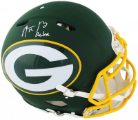 "Aaron Rodgers Signed Packers Full-Size Authentic On-Field AMP Alternate Speed Helmet Inscribed ""Relax"" (Fanatics Hologram) at PristineAuction.com"