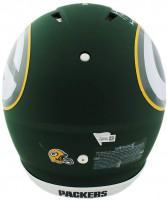 """Aaron Rodgers Signed Packers Full-Size Authentic On-Field AMP Alternate Speed Helmet Inscribed """"Relax"""" (Fanatics Hologram) at PristineAuction.com"""