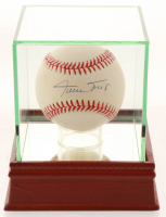 Willie Mays Signed ONL Baseball with High Quality Display Case (PSA COA) at PristineAuction.com