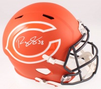 Roquan Smith Signed Bears Full-Size AMP Alternate Speed Helmet (Beckett COA) at PristineAuction.com