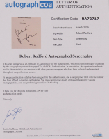 """Robert Redford Signed """"Butch Cassidy and the Sundance Kid"""" Movie Script (AutographCOA LOA) at PristineAuction.com"""