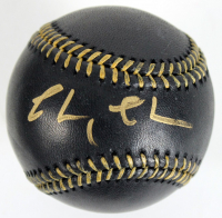 Chevy Chase Signed OML Black Leather Baseball (Beckett COA) at PristineAuction.com