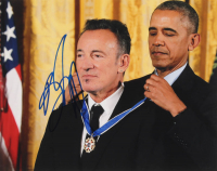 Bruce Springsteen Signed 11x14 Photo with Barack Obama (AutographCOA Hologram) at PristineAuction.com