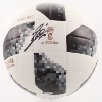 "Lionel Messi Signed Adidas FIFA World Cup 2018 Soccer Ball Inscribed ""Leo"" (Beckett COA) at PristineAuction.com"