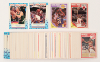 1989-90 Fleer Complete Set of (168) Basketball Cards & 1989-90 Fleer Stickers Complete Set of (11) Basketball Cards with #21 Michael Jordan, #3 Michael Jordan, #8 Larry Bird, #77 Magic Johnson at PristineAuction.com