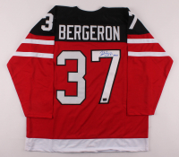 "Patrice Bergeron Signed Jersey Inscribed ""Gold"" (Bergeron COA) at PristineAuction.com"