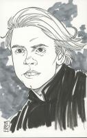 """Tom Hodges - Luke Skywalker - """"Star Wars"""" - Signed ORIGINAL 5.5"""" x 8.5"""" Drawing on Paper (1/1) at PristineAuction.com"""