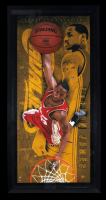 LeBron James Signed LE Breaking Through Rookie of the Year Photo 29x56 Custom Framed (UDA) at PristineAuction.com